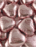Milk Chocolate Pink Foil Hearts