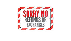 No Refunds or Exchanges on Personalized Items - Treasures Made Just Because