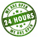 We are Open 24 Hours
