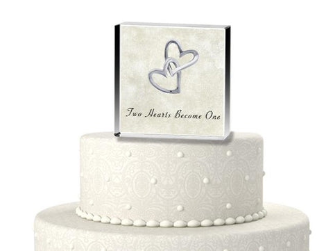 Elegant Two Hearts Cake Topper - Treasures Made Just Because
