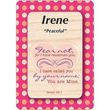 Girl Daydream Scripture Name Cards that begin with I (Irene- Isabella) Click on Card to View All *I* Names