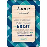 Lance - Luke Daydream Male Scripture Name Cards - Treasures Made Just Because   - 1