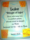Lance - Luke Daydream Male Scripture Name Cards - Treasures Made Just Because   - 4