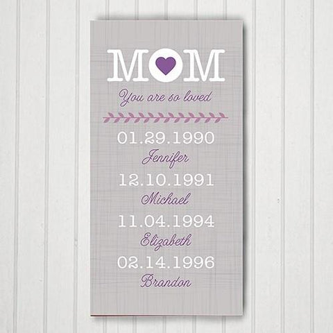 Mom Canvas Personalized - Treasures Made Just Because