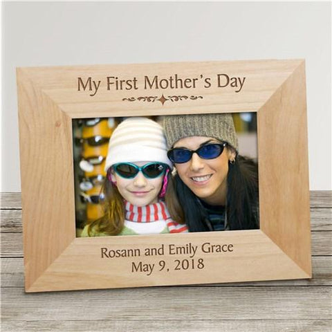 My First Mother\'s Day Personalized Wood Picture Frame – Treasures ...
