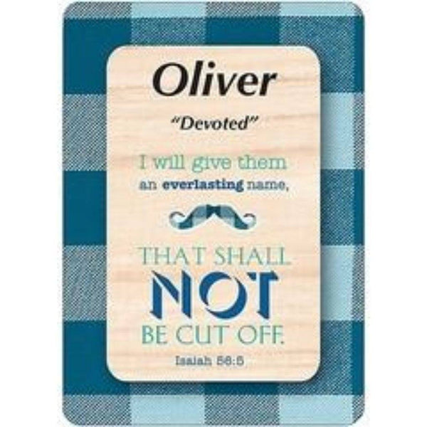 Oliver - Oscar Daydream Male Scripture Name Cards - Treasures Made Just Because