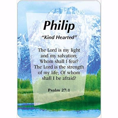 Pat - Phillip Daydream Male Scripture Name Cards - Treasures Made Just Because