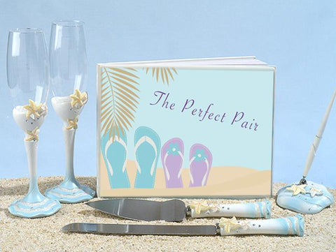 Perfect Pair Flip Flops Wedding Accessory Set - Treasures Made Just Because