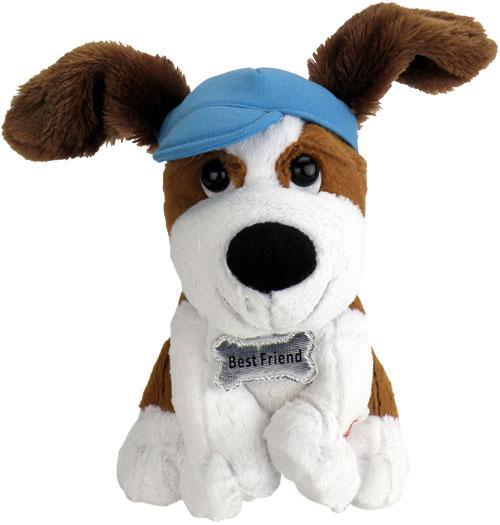 "Do you have a special someone that needs a pick me up or a reason to smile today? Send them this My Best Friends Plush Puppy that SINGS ""Thank You for Being a Friend"" and make them smile today."