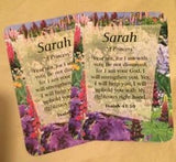 Girl Daydream Scripture Name Cards that begin with S (Sabrina - Sylvia)