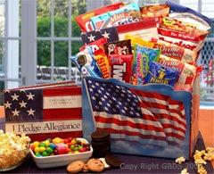 America the Beautiful 4th of July Snack Gift Basket - Treasures Made Just Because