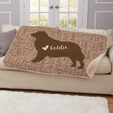 Dog Breeds Personalized Sherpa Pet Throw