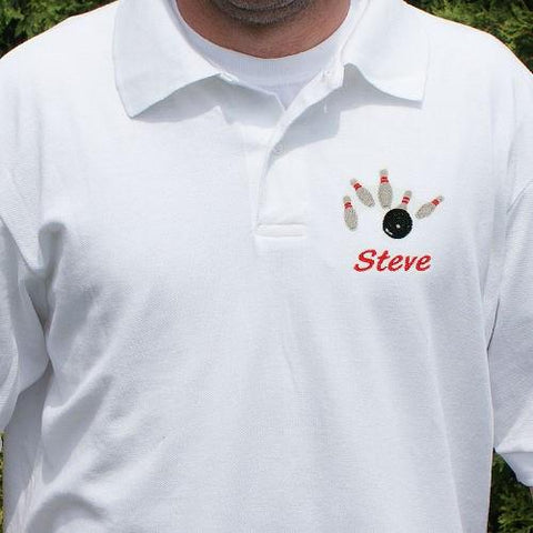 Embroidered Bowling Polo Shirt - Treasures Made Just Because