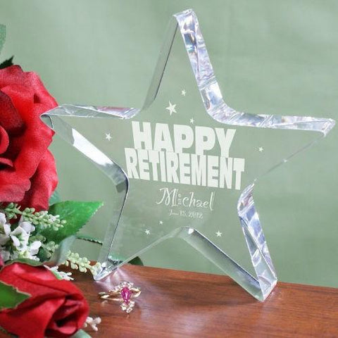 Engraved Happy Retirement Star Keepsake - Treasures Made Just Because