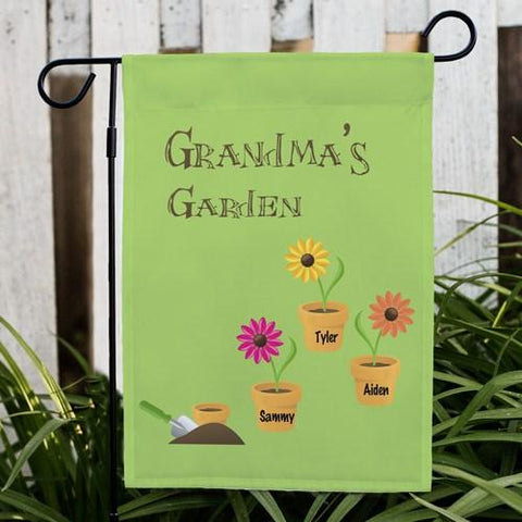 Flower Pot Personalized Garden Flag - Treasures Made Just Because