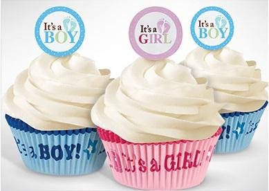 It's a Boy or It's  a Girl Baby Shower Cupcakes (Sold in Qty's of 24) - Treasures Made Just Because