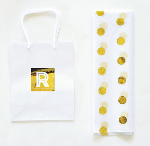 Gold Foil Dot Tissue Paper - Treasures Made Just Because