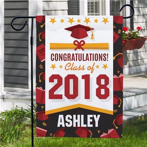 Personalized Congratulations Class of 2018 Garden Flag - Treasures Made Just Because