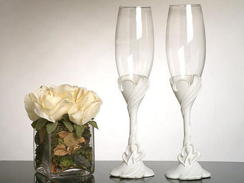 Two Hearts Become One Toasting Glasses - Treasures Made Just Because