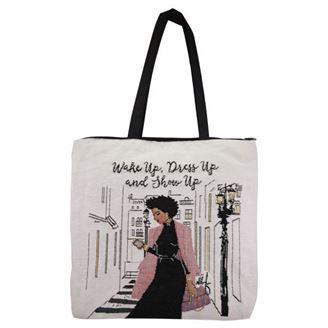 Wake Up Dress Up and Show Up African American Tote Bag - Treasures Made Just Because