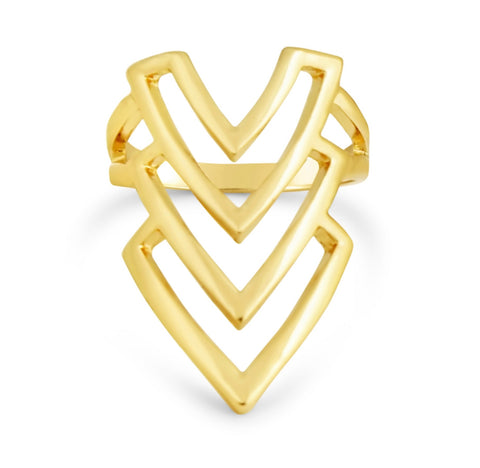 Gold Arrow Finger Ring