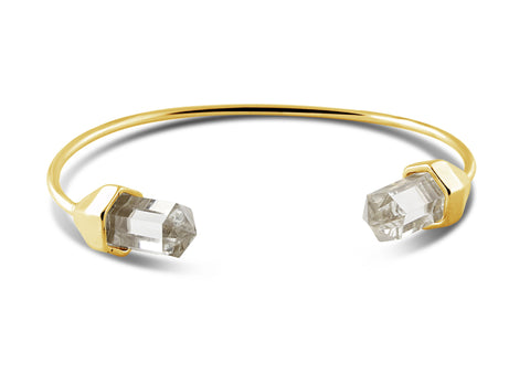 Luna Crystal Gold Bangle