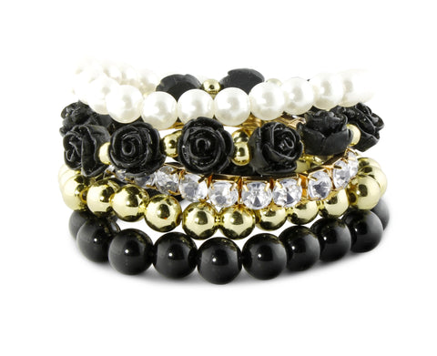 Black Secret Garden Bracelet Set