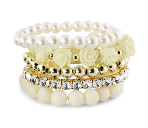White Secret Garden Bracelet Set