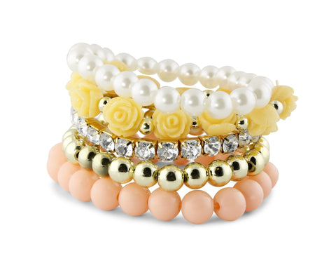 Peach Secret Garden Bracelet Set
