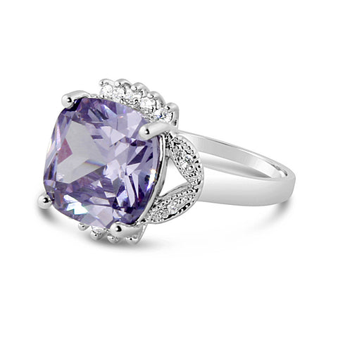 Purple Tourmaline Silver Ring