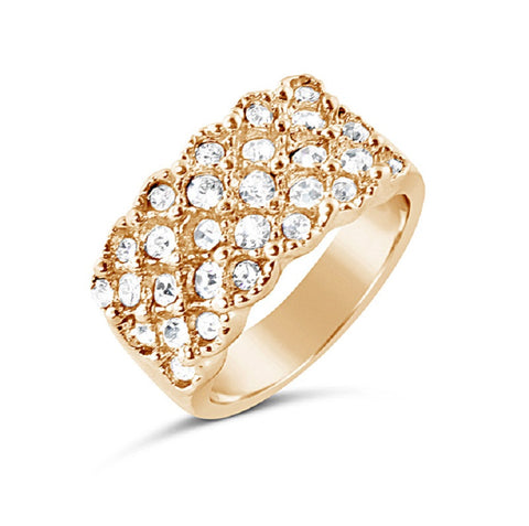 Rhinestone Rose Gold Ring
