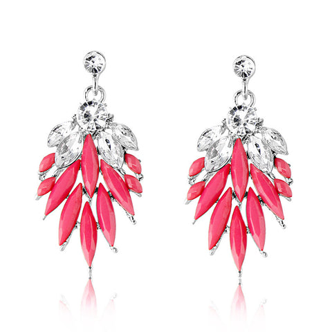 Pink Icicle Crystal Earring