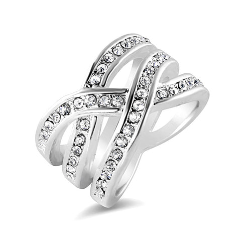 Double Infinity Silver Ring