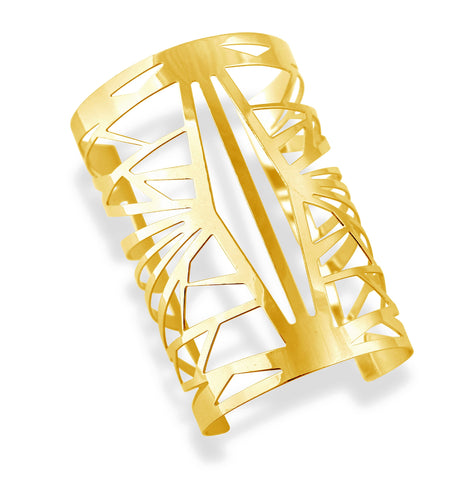 Cut It Out Gold Cuff