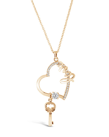 Key To Love Gold Pendant Necklace
