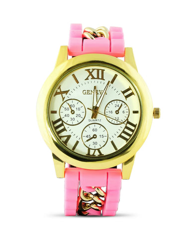 Silicone Pink Watch