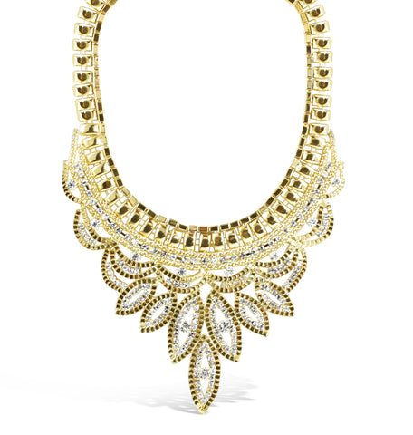 Ella Crystal Statement Necklace