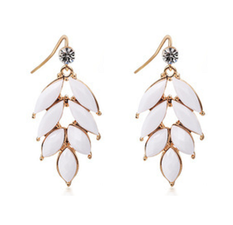 White Midsummer's Night Earrings