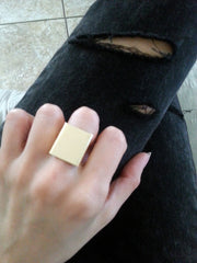 gold square box ring