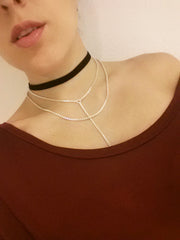 Ava - Black Velvet Choker Necklace