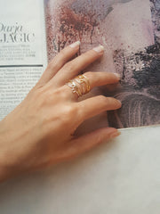 thin gold and silver stacking layering rings