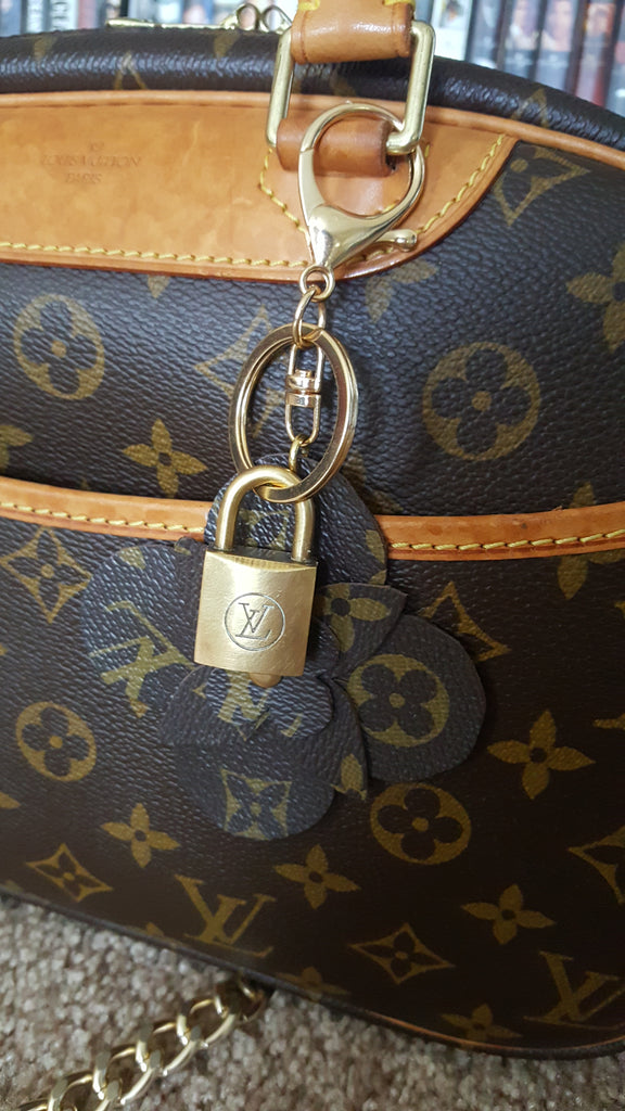 Louis Vuitton Reworked Bag Charm Key Ring W Vintage