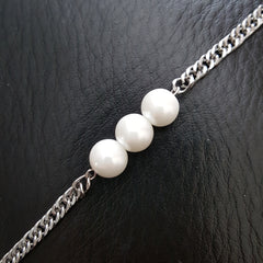 3 white pearl choker necklace hrh collection style