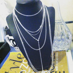 silver plated 30 inch necklace