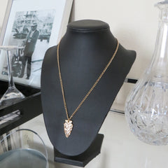 arrow head layering gold chain necklace