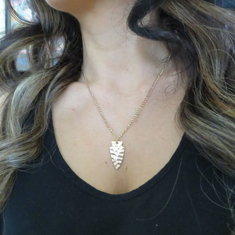 gold arrow head necklace