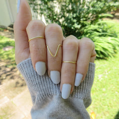 set of 3 gold plated midi rings