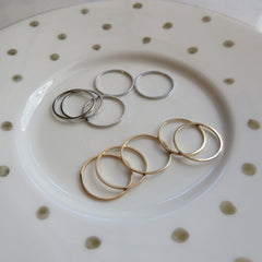 gold and silver layering rings