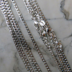 Thin Silver Plated Delicate Layering Necklace