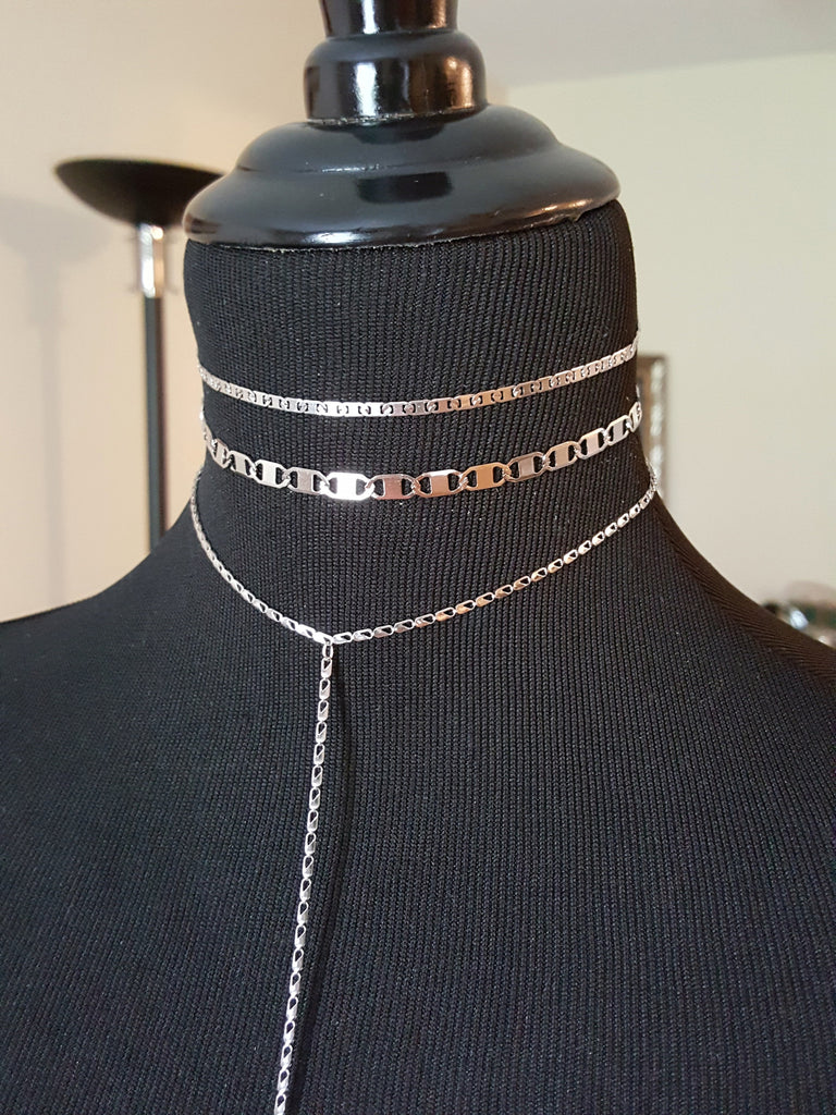 stainless steel flash and tattoo choker hrh necklace